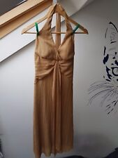 UK8 ALYN PAIGE Sexy Gold Glitter Halterneck USA Fashion Party Clubbing Dress