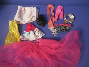 BARBIE CLOTHES LOT...USED..SOME VINTAGE.ALL MIXED PANTS,SHIRTS ,& MORE!.LOT 22