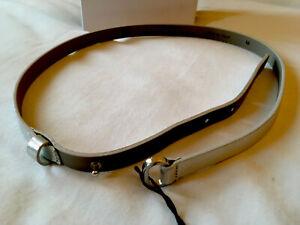 M Missoni Silver Colour Leather Belt. Size M, 1cm Wide, 85cm Length
