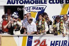 Mass & Reuter & Dickens Sauber Mercedes Podium Winners Le Mans 1989 Photograph