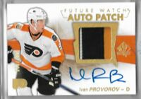 2016-17 Sp Authentic Hockey Ivan Provorov Future Watch 3 CLR Patch Auto 63/100