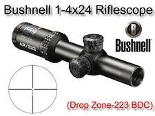 Bushnell 1-4x24 Optics Scope BDC Drop Zone Reticle Riflescope 5.56 .223