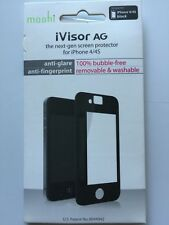 Moshi iVisor AG Anti Glare Screen Protector for iPhone 4 / 4S - Black NEW