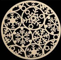 2 Christmas Felt Placemats Cream Snowflake Decoration Festive Party Xmas Mat