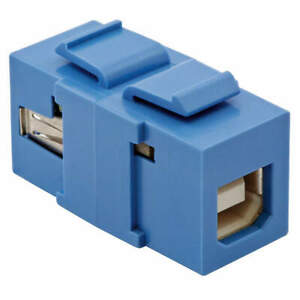 HUBBELL PREMISE WIRING SFUSBABB USB Connector,A to B, 2.0 Reversible,Blu
