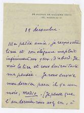 Lettre manuscrite Signé Autographe Comtesse de Duranti Elie Dautrin Hélène Jung
