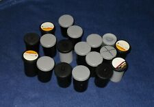 35mm Empty Film Canisters Various Colors (Lot of 19)