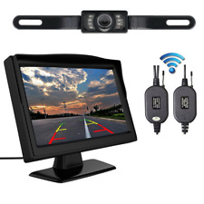 "Wireless 5"" Monitor Car Rear View System Backup Reverse Camera Night Vision Set"