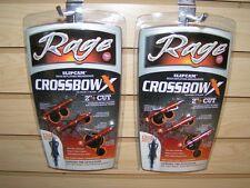"New 2017 Rage 2 Blade 100 Gr 2"" Cut Crossbow X 1/2 Dozen Broadheads R53000"