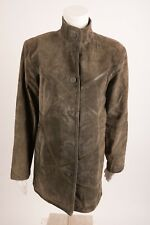 Linea by Louis Dell'Olio Women's Jacket Coat Small Suede Olive Green Leather