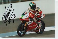 Raúl Vázquez mano firmado 7x5 Foto Mahindra Racing MotoGP Moto 3.