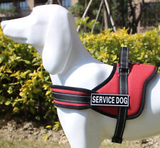 Reflective Service Dog Vest Safety Non Pull Padded Dog Walking Harness All Sizes