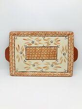 New listing Temp-tations By Tara Old World Orange Tray Handled for 13�x9� Casserole Baker