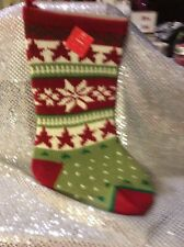 Xtra Large Knitted Christmas Stocking*New W/tag* Just Beautiful!