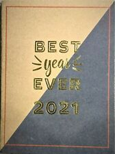 "2021 Planner, ""Best Year Ever 2021"" in Gold Foil, Monthly Layout, 10"" x 7.5"""
