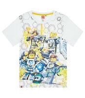 Boys Kids Official Lego Nexo Knights White Short Sleeve T Shirt Top