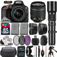 Nikon D3500 DSLR Camera + Nikon 18-55mm VR Lens + 500mm Telephoto Lens -32GB Kit