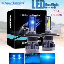 2x Ice Blue 8000K 6000LM Super Bright COB H4 9003 LED Headlight High Low Beam