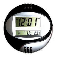 Conception Numérique Horloge Murale Montre Chrome 12/24 Heures Date Calendrier