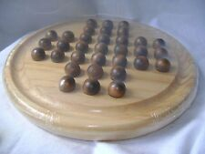 NEW SOLITAIRE BOARD GAME SET WOODEN MARBLES AND TABLE LEGLER 2933