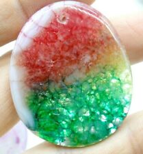 44*36MM Natural picture agate pendant Gem Beads Jewelry making necklace A44