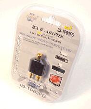 1 ps RCA Y Splitter Adapter Plug 1 Female to 2 Male AV Audio Video Converter