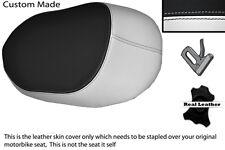 White & black custom fits bmw k 1200 k 1300 gt 06-12 Arrière Housse Siège En Cuir