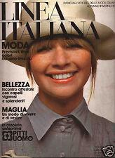 Linea Italiana Fall/Winter 1972 Fashion Magazine - 70's Italian Fall Collections