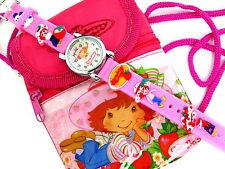 Rare Strawberry Shortcake Kids 3D Watch & mini Shoulder Bag NEW Free Shipping