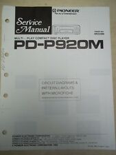 Pioneer Service Manual~PD-P920M CD Player~Original~Repair