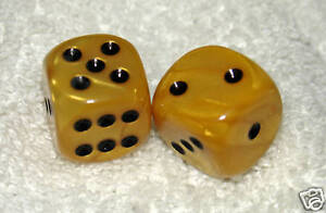 BUTTERSCOTCH MARBLED DICE PAIR