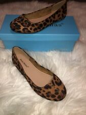 Pierre Dumas Size 6M 6 Leopard Print Flats Coleen New With Box