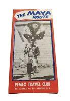 1959 The Maya Route Mexico Pemex Travel Club Brochure Vintage Native American