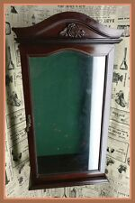 DOLL/STATUE DISPLAY CASE, cherry finish