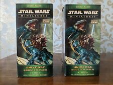 2 Boxes Star Wars Miniatures Universe Booster Pack 1 Huge & 6 Miniatures Sealed