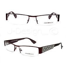 Emporio Armani EA 9581 NI0 Half-Rimless 53/17/140 Eyeglasses Rx Italy - New