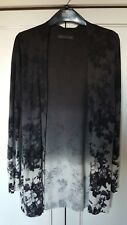BNWOT M & S longline cardigan charcoal floral pattern with silk size 8