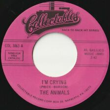 ANIMALS 45: I'M CRYING b/w BOOM BOOM  US  COLLECTABLES COL 3063  NM & NM 1990'S