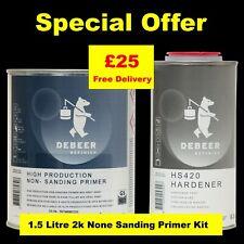 Debeer 2K Grey Primer Air Dry  High Production Non Sanding Primer  1.5LT Kit