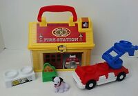 Fisher Price Little People On The Go FIREHOUSE Travel Lunch Tote