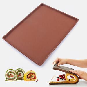 Silicone Soft Cake Swiss Roll Baking Sheet Pad Mat Tray Pan Cookie Bake DIY US