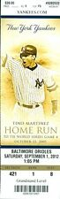 2012 Yankees vs Orioles Ticket: Robinson Cano and  Matt Wieters homered