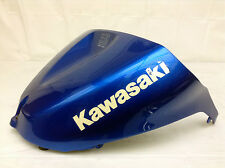 KAWASAKI 2005 2006 ZX6R ZX636 NINJA FUEL GAS TANK COVER BLUE - VIDEO!