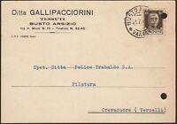 AA6633 Tessuti Ditta Gallipacciorini - Busto Arsizio 1941 - Cartolina postale