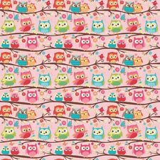 Happy Flappers Owl Pink by Kelly Panacci  for Riley Blake, 1/2 yd cotton fabric