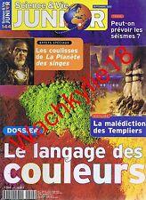 Science et vie junior n°144 du 09/2001 Couleurs La planète des singesTempliers