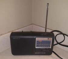 Sony ICF-36 AM/FM Radio/Weather Band/TV Sound AC/DC Powered Works