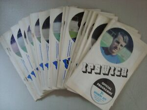 Full set of Ipswich 1970-71 home programmes - 25 programmes in all