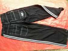 BERNIES STRIPED STREET SKATING BAGGY JEANS TROUSERS PANTS 1990'S
