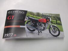Suzuki GT750 1977  owners manual  gt750b